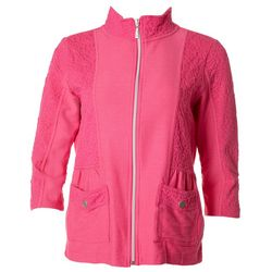 Onque Casual Womens Popcorn Textured Spring Jacket