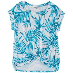 Sportelle Womens Knotted Foliage Knit Top