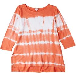 Womens Tie Dye 3/4 Sleeve Blouse