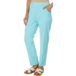 Onque Casual Womens Solid Ankle Pants