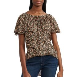 Chaps Womens Printed Flutter Top