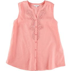 Coral Bay Womens Lace Sleeveless Top
