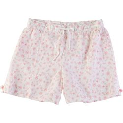 Coral Bay Womens Pineapple Linen Shorts