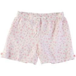 Womens Pineapple Linen Shorts