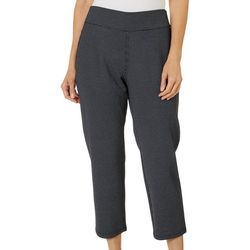 Cathy Daniels Womens Dotted Pull On Straight Leg Pants
