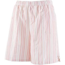 Emily Daniels Womens Sriped Pull On Shorts