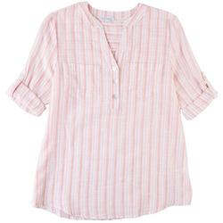 Womens 3 Button Placket Shirt