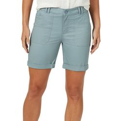 Gloria Vanderbilt Womens Solid Bermuda Shorts