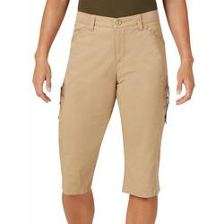 Womens Flex-To-Go Relaxed Fit Cargo Skimmer Capris