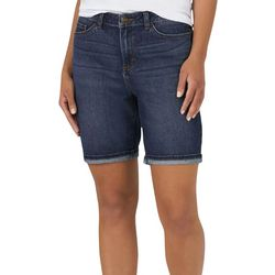 Gloria Vanderbilt Womens Free to Move Denim Bermuda Shorts