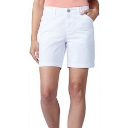 Lee Womens Solid Chino Bermuda Shorts