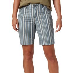Lee Womens Twill Striped Bermuda Shorts