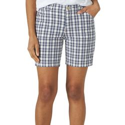 Lee Womens Plaid Chino Walking Shorts