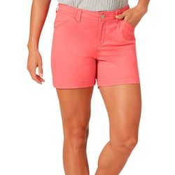 Lee Womens Solid Chino Shorts