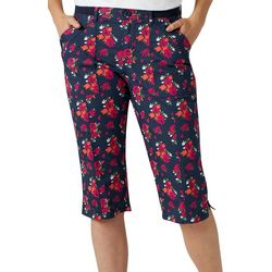Lee Womens Floral Flex-To-Go Utility Skimmer Capris
