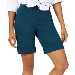 Lee Womens Solid Flex-To-Go Utility Bermuda Shorts