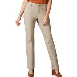 Lee Womens Straight Leg Wrinkle-Free Pants