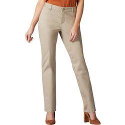 Lee Womens Straight Leg Wrinkle-Free Pants