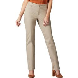 Womens Straight Leg Wrinkle-Free Pants