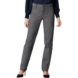Lee Womens Straight Leg Plaid Wrinkle-Free Pants