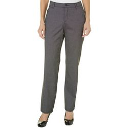 Womens Plaid Relaxed Plain Front Pants