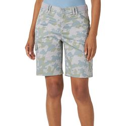Lee Womens Flex-To-Go Camo Relaxed Fit Cargo Bermuda Shorts