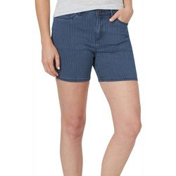 Lee Womens Striped Denim Shorts
