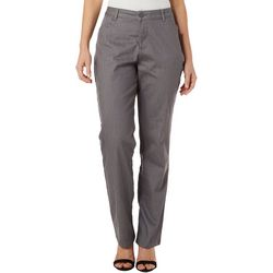 Lee Womens Solid Relaxed Fit Straight Leg Pants