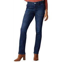 Lee Womens Flex Motion Solid Boot Cut Jeans