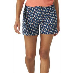 Lee Womens Leaf Print Chino Shorts
