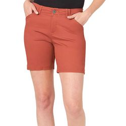 Lee Womens 7 Solid Chino Shorts
