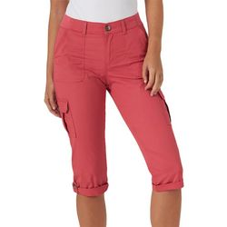 Lee Womens Solid 6 Pockets Cargo Capris