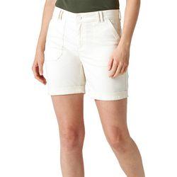 Lee Womens Double Belt Loop Casual Shorts