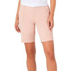 Lee Womens Elastic Waist Cargo Bermuda Shorts