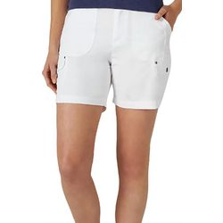 Lee Womens Cargo Pocket Solid Shorts