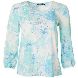 Cure Apparel Womens Tie Dye Long Sleeve Knit Tunic