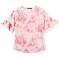 Cure Apparel Womens Tye Dye Short Sleeve Top