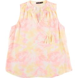 Cure Apparel Womens Tie-Dye Dream Sleeveless Top