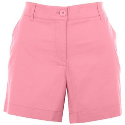 Nautica Womens Solid Colored Denim Shorts