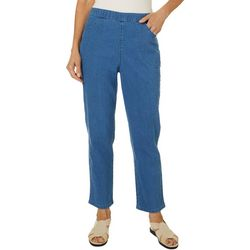 Coral Bay Womens Denim Pull On Pants