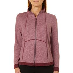 Coral Bay By Teez-Her Womens Solid Heathered Jacket
