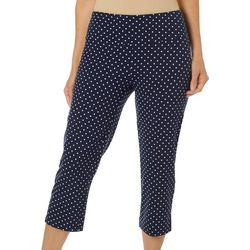 Coral Bay Energy Womens Polka Dot Pull On Capris