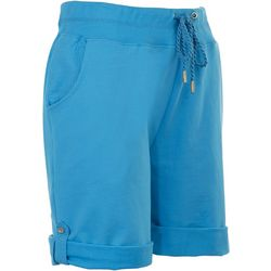 Womens Solid Pull On Skimmer Shorts