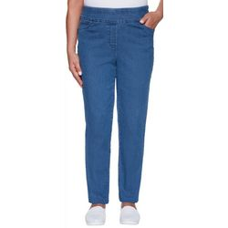 Alfred Dunner Womens Pearls of Wisdom Denim Pull