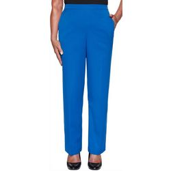 Alfred Dunner Womens Vacation Mode Short Proportioned Pants