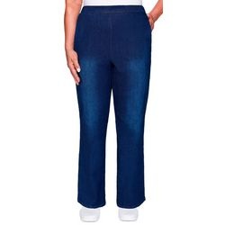 Alfred Dunner Womens Denim Friendly Short Proportioned Pants