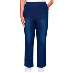 Alfred Dunner Womens Denim Friendly Proportioned Pants