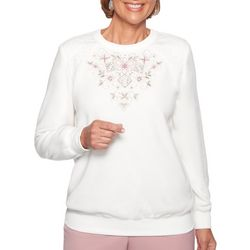 Alfred Dunner Womens Home For The Holidays Embroidery