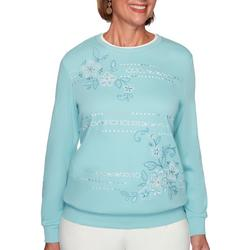 Womens Floral Biadere Sweater
