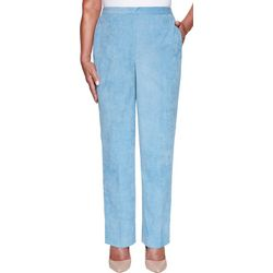 Alfred Dunner Womens Dover Cliffs Short Proportioned Pants